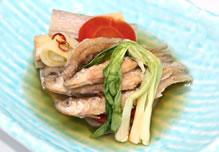 公魚(わかさぎ)南蛮漬けと野菜の揚げ浸し