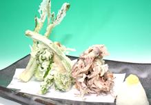 蛍いかと旬野菜の天ぷら